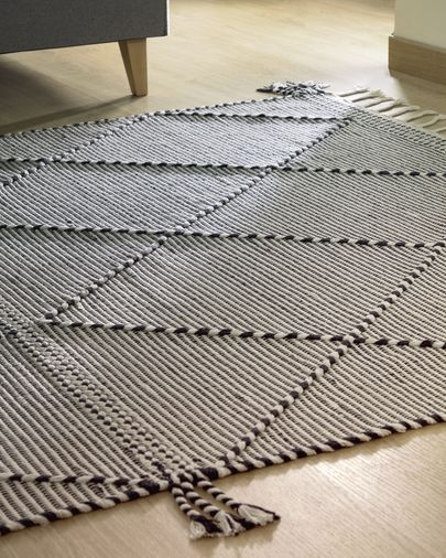 Tapis Nurit 160 x 230 cm noir