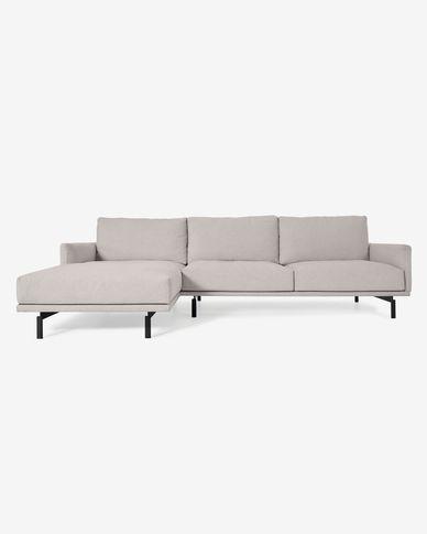 Sofá Galene 4 plazas con chaise longue izquierdo beige 314 cm