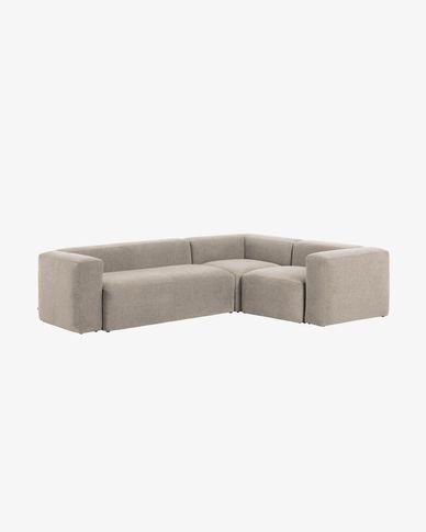 Canapé d'angle Blok 3 places beige 290 x 230 cm
