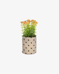 Planta artificial Leonitis leonurus amb test de ràfia 13 cm