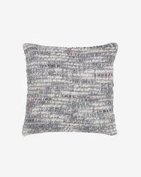 Deyarina grey and white cushion cover 45 x 45 cm