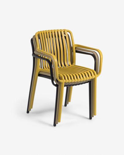 Isabellini Outdoor-Stuhl in senfgelb