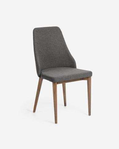 Cadira Rosie gris fosc acabat fosc