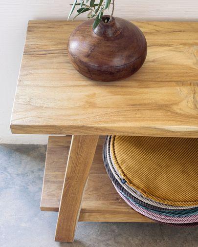Ławka Safara z litego drewna tekowego z odzysku 150 cm