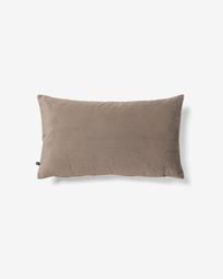 Lita cushion cover 30 x 50 cm taupe velvet