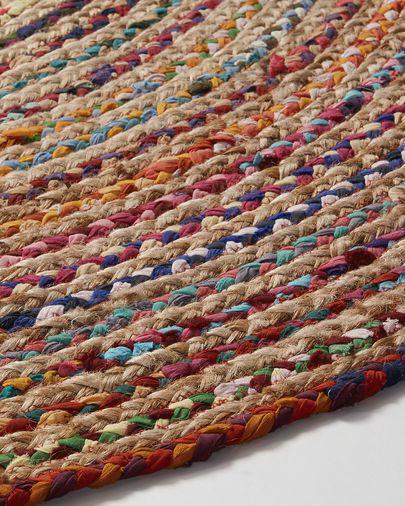 Tapete Saht Ø 100 cm multicolorido
