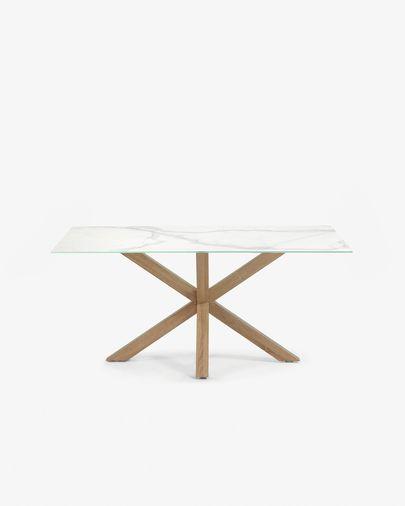 Argo tafel 160 cm porselein houten effect benen
