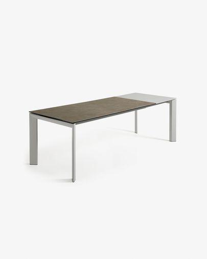 Tavolo allungabile Axis 160 (220) cm porcellanato finitura Vulcano Cenere gambe grigio