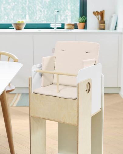 Coussin de chaise haute Nuun 100% coton bio (GOTS) finition naturelle