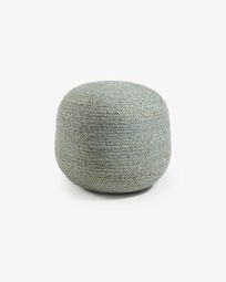 Round blue Doc pouf Ø 50 cm