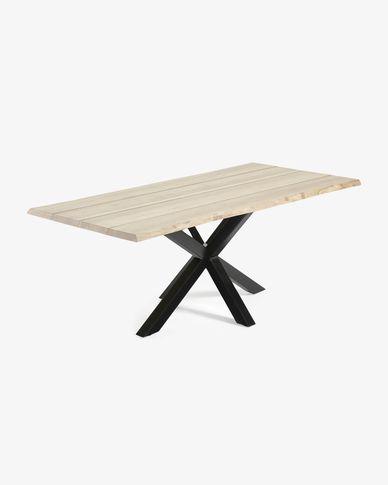 Argo table 220 cm bleached oak black legs