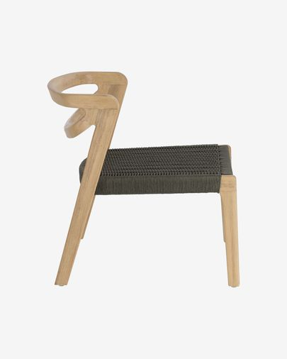 Ezilda armchair made from solid eucalyptus wood and green cord FSC 100%