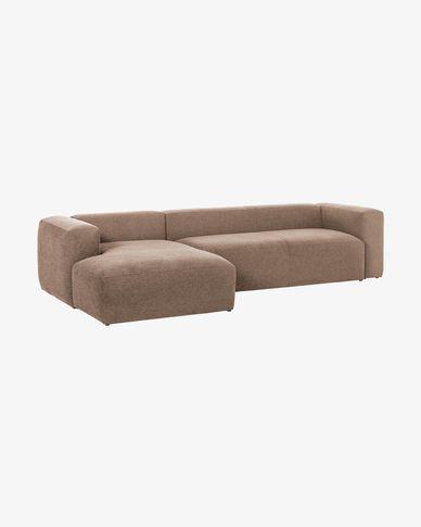 Divano Blok 3 posti chaise longue sinistra rosa 330 cm