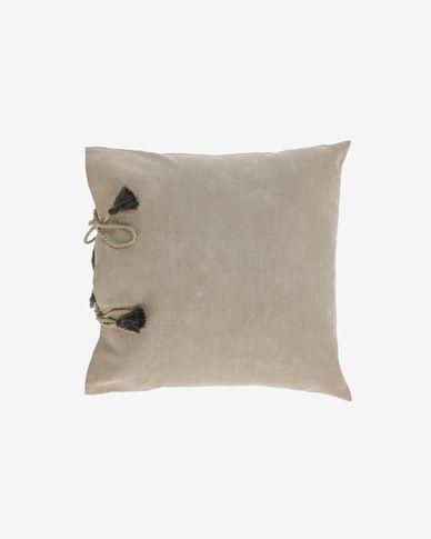 Fodera per cuscino Varina 100% cotone marrone 45 x 45 cm
