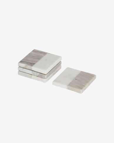 Danelle marble set of 4 coasters