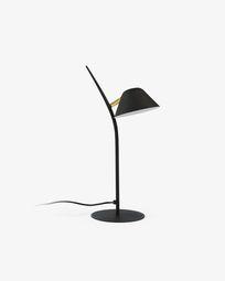 Lámpara de sobremesa Aurelia de acero con acabado negro