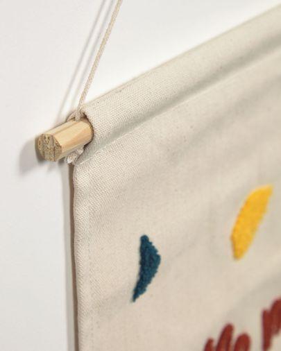 Tapiz mural Nerta 100% algodón little man cave multicolor 35 x 45 cm