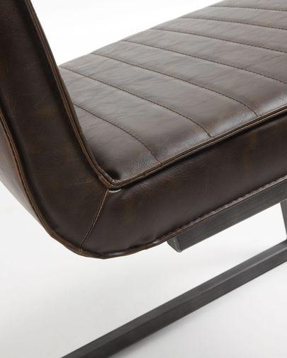 Tusk chair dark brown