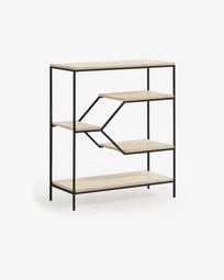 Push shelving unit 80 x 93,5 cm black