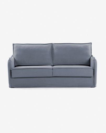 Sofá-cama Samsa 160 cm viscoelástico azul