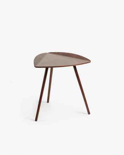 Damasc side table in veneered walnut wood 45 x 47 cm