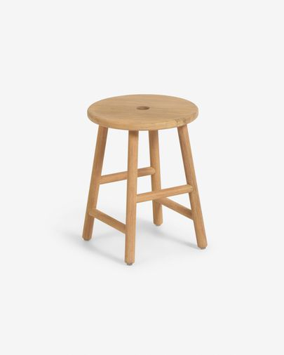 Table d'appoint ronde Huara en bois massif d'eucalyptus de Ø 35cm FSC 100%