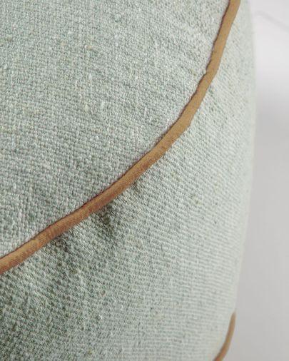Pouf Dalila en PET vert de Ø 60cm