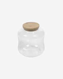 Small Cirene transparent glass jar
