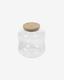Kleine pot Cirene van transparant glas