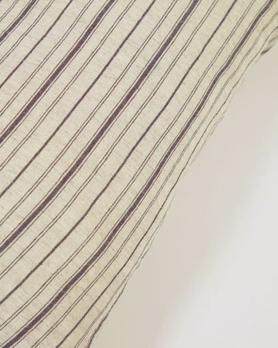 Etna 100% linen cushion cover with brown stripes 30 x 50 cm