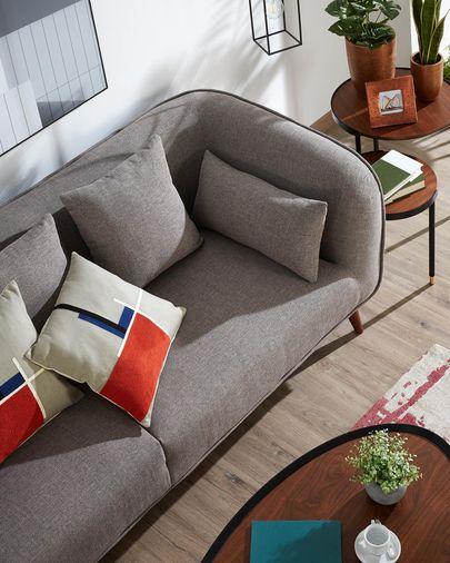 Grey three-seater Olost sofa 229 cm