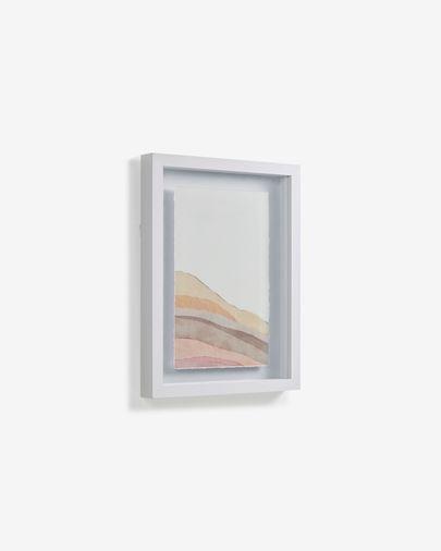 Cuadro Nacira líneas multicolor 30 x 40 cm