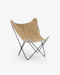 Fauteuil Fly terrazzo mosterd