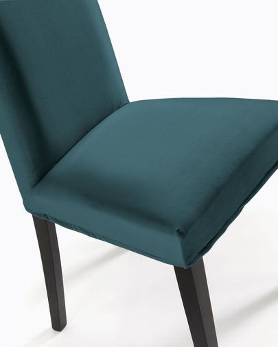 Chaise Freda velours turquoise