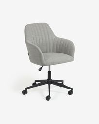 Madina light grey office chair