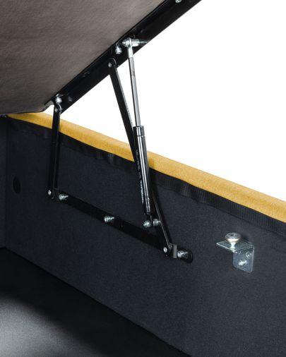 Base letto con contenitore Matter 150 x 190 cm senape