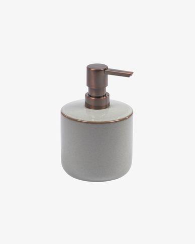 Chavela grey ceramic soap dispenser
