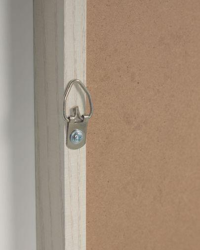 Tableau Leyla fenêtre maison marron 40 x 40 cm