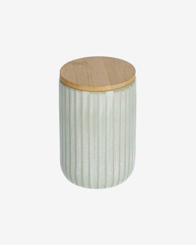Słoik Itziar duży zielony ceramiczny