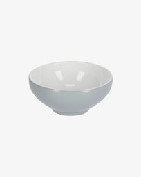 Sadashi small porcelain bowl in grey and white
