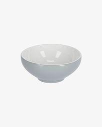 Bol Sadashi petit en porcelaine blanc et gris