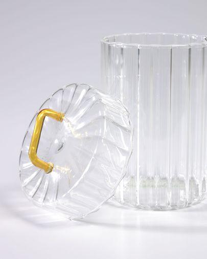 Bocal Gretel en verre transparent et jaune