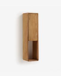 Armário para casa de banho de parede Kuveni 25 x 100 cm madeira maciça de teca