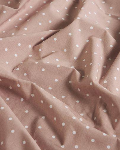 Set Betiana funda nórdica, bajera y funda almohada algodón orgánico GOTS topos 70 x 140 cm