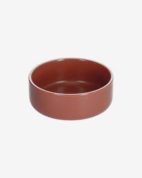 Roperta large porcelain bowl in terracotta