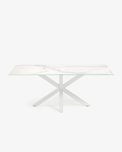 Argo table 180 cm porcelain white legs
