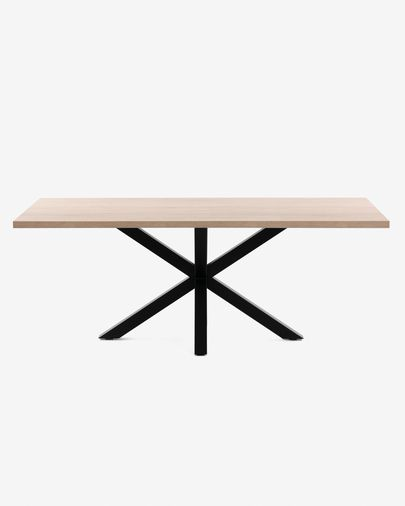 Argo table 200 cm natural melamine black legs