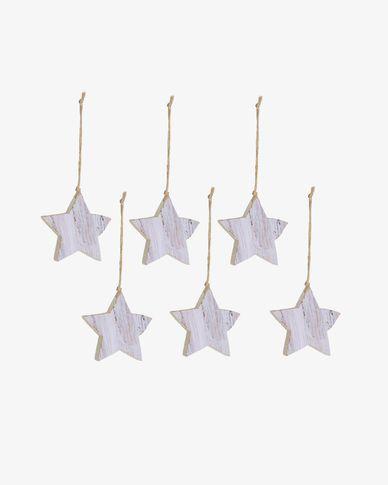 Set Keira di 6 stelle decorative pendenti