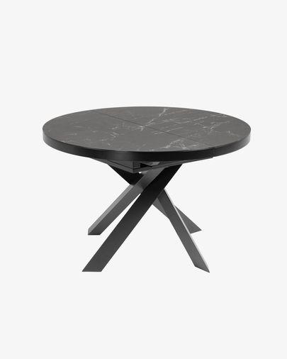 Vashti extendable table Ø 120 (160) cm porcelain