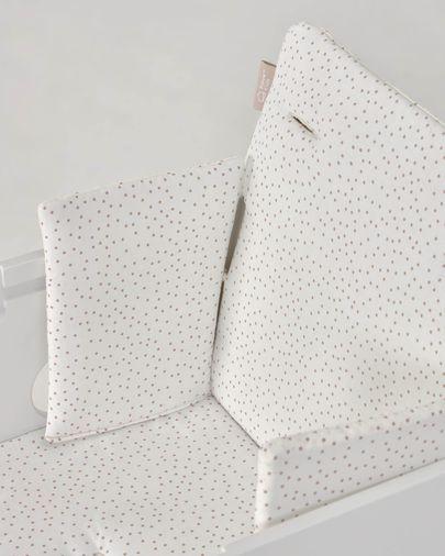 Almofada cadeira Nuun 100% bolinhas (GOTS) rosa